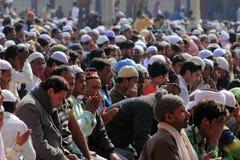 Devotos musulmanes foto de archivo libre de regalías