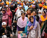 Devotos sikh en el festival 2012 de Baisakhi en Brescia Fotografía de archivo