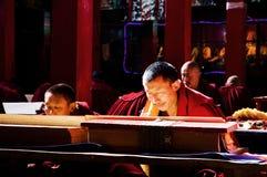The Devout monks royalty free stock photo