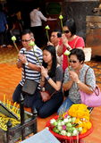 Chiang Mai, TH: Thais Praying at Wat Doi Suthep Stock Photo