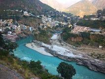 Devprayag rzeka Obrazy Royalty Free
