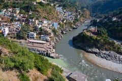 Devprayag. Uttarakhand, India. Royalty Free Stock Photo
