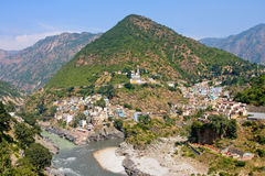 Devprayag Uttrakhand, Indien. Arkivfoto