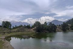 Devriya Taal or Deoria Tal lake, Garhwal, Uttarakhand, India royalty free stock photos