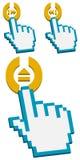 Devuelva el cursor encendido después, y ábrase/botón cercano Imagen de archivo libre de regalías