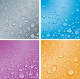 Dew. Four color dew pattern background Stock Photo
