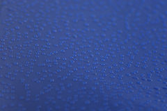 Dew on the blue tent Royalty Free Stock Images