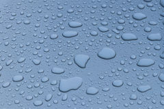 Dew drops on car roof. Royalty Free Stock Photo