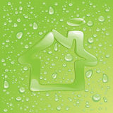 Dew house Royalty Free Stock Images