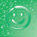 Dew laugh face. An illustration of dew effect laugh face pattern Stock Photography