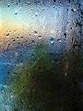 Dew on the mirror. On morning royalty free stock photos