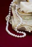 dew morning necklace pearl web Στοκ Φωτογραφίες