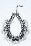 dew morning necklace pearl web διανυσματική απεικόνιση