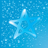 Dew star Royalty Free Stock Photography
