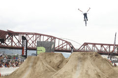 Dew Tour BMX dirt jumps Stock Photos