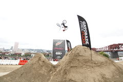 Dew Tour BMX dirt jumps Royalty Free Stock Photo