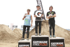 Dew Tour BMX dirt jumps Royalty Free Stock Image