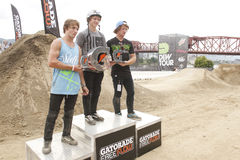 Dew Tour BMX dirt jumps Stock Photo