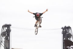 Dew Tour BMX dirt jumps Stock Images