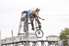 Dew Tour BMX dirt jumps Stock Image