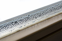 Dew on window Royalty Free Stock Photo