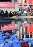 Dewali节日,伦敦,英国 2016年10月16日, Dewali执行者和场面伦敦节日的市长在特拉法加广场 库存图片