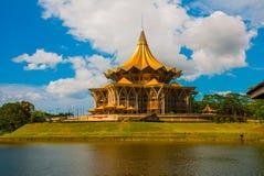 Dewan Undangan Negeri Sarawak. Sarawak State Legislative Assembly in Kuching, Sarawak, Malaysia. Royalty Free Stock Image