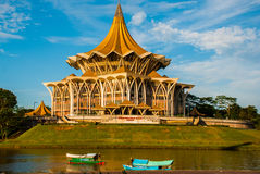 Dewan Undangan Negeri Sarawak. Sarawak State Legislative Assembly in Kuching, Sarawak, Malaysia. Stock Images