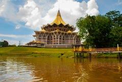 Dewan Undangan Negeri Sarawak. Sarawak State Legislative Assembly in Kuching, Sarawak, Malaysia. Stock Photography