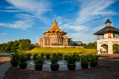Dewan Undangan Negeri Sarawak. Sarawak State Legislative Assembly in Kuching, Sarawak, Malaysia. Royalty Free Stock Photos