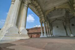 DEWANI AAM AT AGRA FORT WIDE VIEW