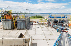 Dewatering and cleaning line Stock Photography