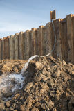 Dewatering construction site royalty free stock photography