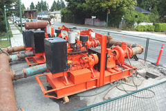 Dewatering Machine. A machine used for the removal of water from solid material Royalty Free Stock Images