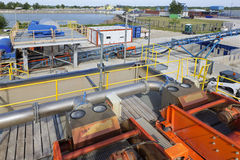 Dewatering technology Royalty Free Stock Image