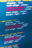Deweloperu oprogramowania workspace ekran Obrazy Stock