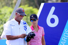 Dewi Claire Schreefel at the ANA inspiration golf tournament 2015 Royalty Free Stock Photo