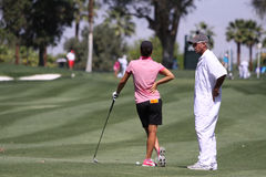 Dewi Claire Schreefel at the ANA inspiration golf tournament 2015 Stock Images