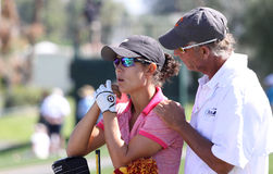 Dewi Claire Schreefel at the ANA inspiration golf tournament 2015 Stock Photography