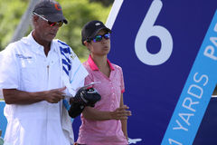 Dewi Claire Schreefel at the ANA inspiration golf tournament 2015 Stock Image