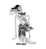 Dewi Kaniraras. A character of traditional puppet show, wayang kulit from java indonesia royalty free illustration