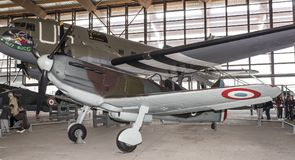 Dewoitine D 520- 第二个世界War1940的法国战斗机 免版税库存照片