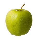 Dewy green apple Stock Images