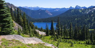 Dewy Lake in Mt Rainier NP Royalty Free Stock Images