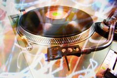 Dex spin pattern. A turntable with an abstract pattern overlayed royalty free illustration