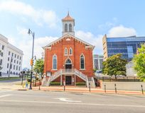 Dexter Avenue King Memorial Baptist Church. Historic Dexter Avenue King Memorial Baptist Church located in downtown Montgomery, Alabama.  Once pastored by the Royalty Free Stock Images