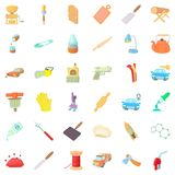 Dexterity icons set, cartoon style Stock Photos