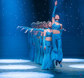 A dexterous-Chinese folk dance Stock Photography