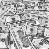 Dez contas de dólar Foto de Stock Royalty Free