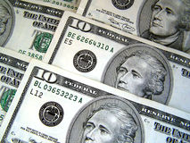 Dez dólares Imagens de Stock